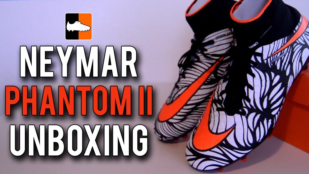 318173bc8 Ousadia Alegria Neymar Hypervenom Phantom II Unboxing - YouTube
