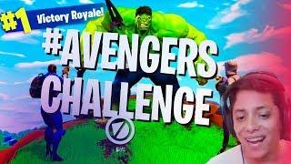 Captain America, Black Widow , Hulk, Thor at FORTNITE *NO SKINS - AVENGERS BATTLE ROYALE
