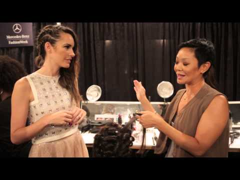 Backstage: Louise Roe at the Jenny Packham Fashion Week Show 2013 | TRESemmé Style Setters