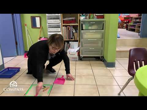 Sweeping the Floor (Life Skills) | Remote Lesson | Compass Montessori School of Federal Way