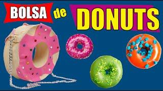 Bolsa Donuts – como fazer – Bolsa Kawaii – Muito fácil