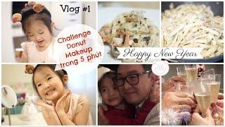Donut làm CHALLENGE MAKEUP trong 5 phút ♥ Cách làm mì Ý đơn giản cho những bữa tiệc ♥ Vlog #1-2019