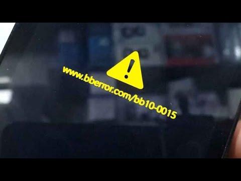 SOLVED: How to fix www.bberror.com/bb10-0015 - Blackberry q10, z3, Z10 Review