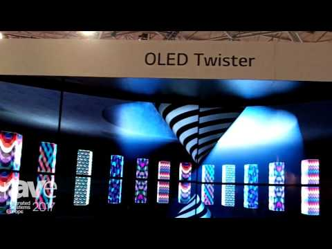 ISE 2017: LG Presents Open Frame OLED Technology for Flexible Installations
