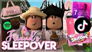 BEST FRIEND'S ULTIMATE SLEEPOVER! | Roblox Bloxburg Roleplay