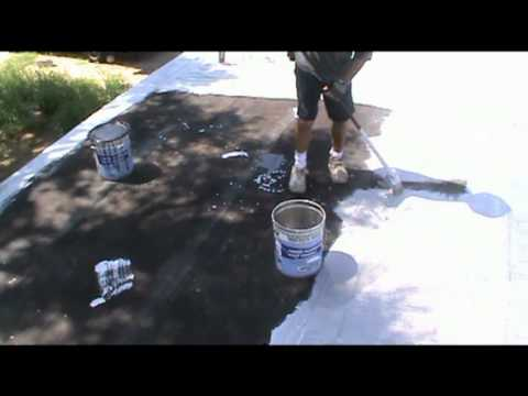 Aluminum Coating The Roof.mpg   YouTube