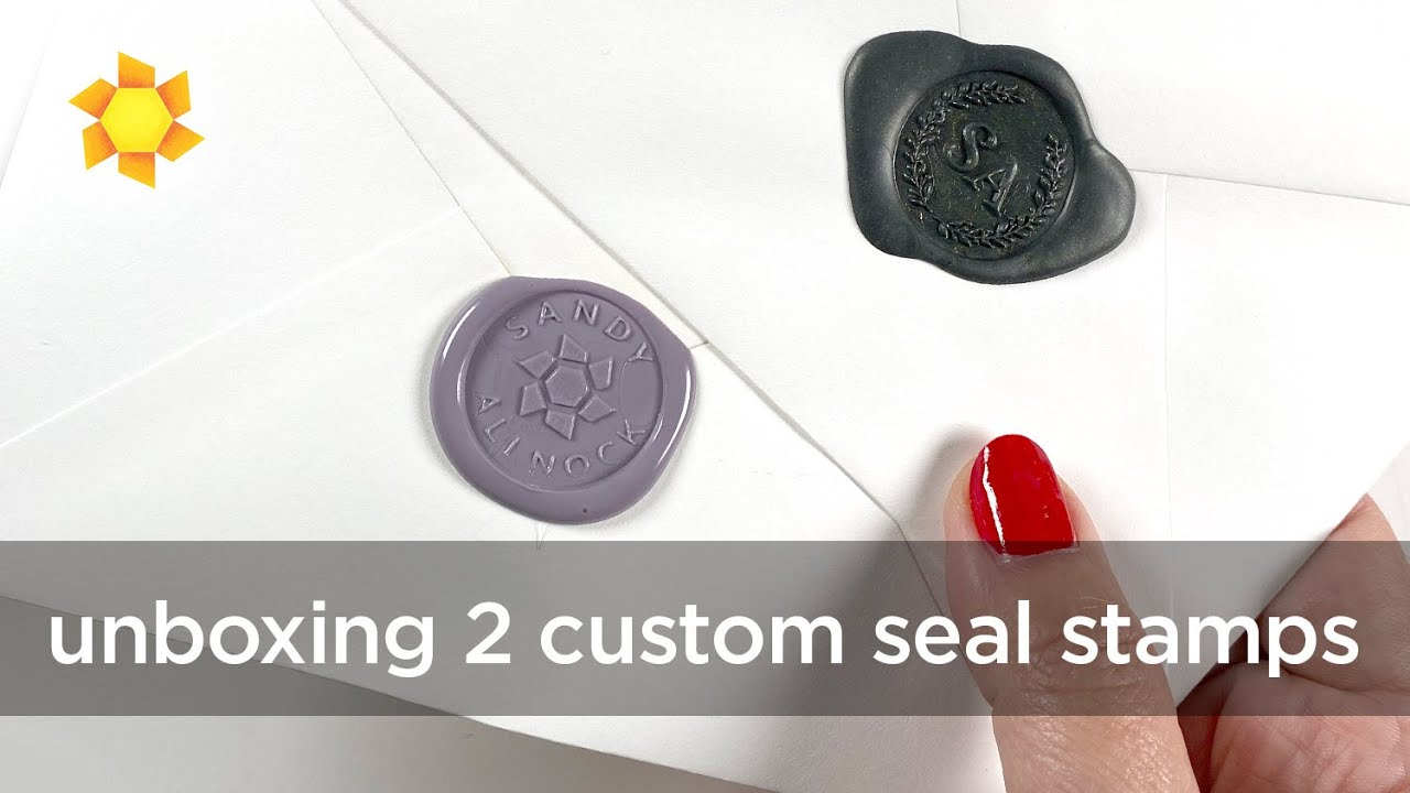 Unboxing 2 Custom Wax Seal Stamp   - Stamptitude & Artisaire