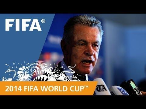 Switzerland's Ottmar HITZFELD Final Draw reaction (German)