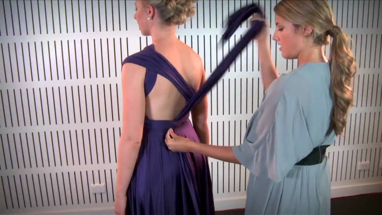 How to tie a wrap dress one shoulder bridesmaids dresses how to tie a wrap dress one shoulder bridesmaids dresses sydney youtube ombrellifo Image collections