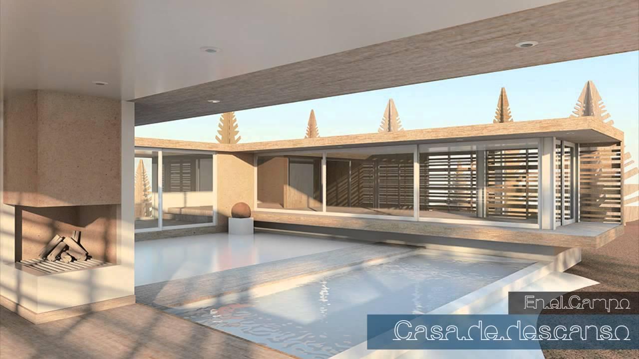 A c renders proyecto casa de campo youtube for Proyectos de casas