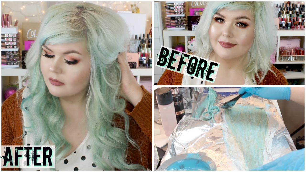 How I Dyed My Extensions Mint How I Clip In My Extensions Vp