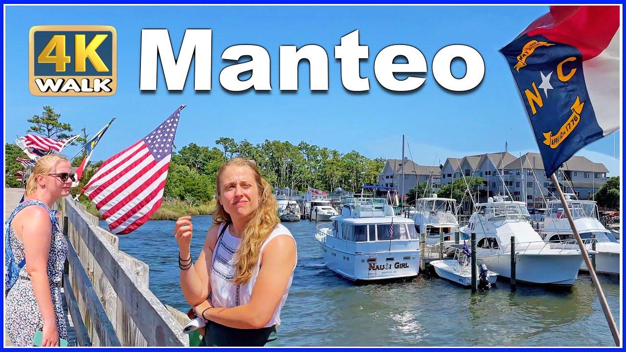 【4K】WALK MANTEO ( Outer Banks ) North Carolina NC USA Travel