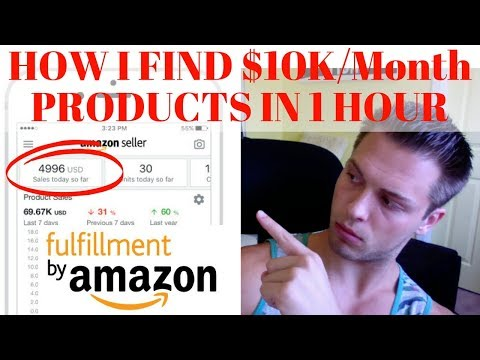 How I Find $10,000/MONTH Products On Amazon With ONLY 1 HOUR Of Work