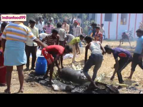 Indian villagers cleaning and butchering pig - Hog cleaning and cutting - Amazing Viral Video