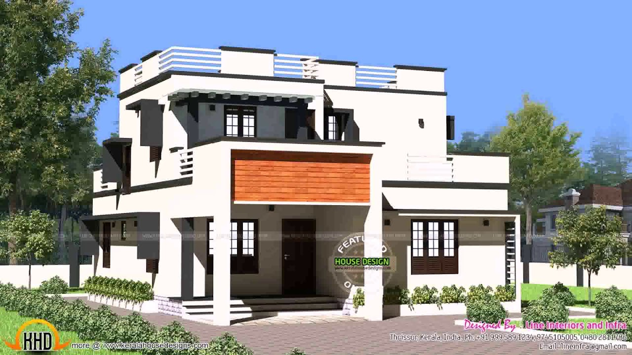 Flat Roof House Designs In India Daddygif See