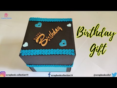 Birthday Gift For Husband | Three Layer Explosion Box | Special Gift Ideas | Scrapbook Collection