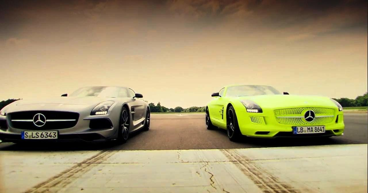 Petrol Vs Electric Mercedes Sls Amg Battle Top Gear Series 20 Bbc You