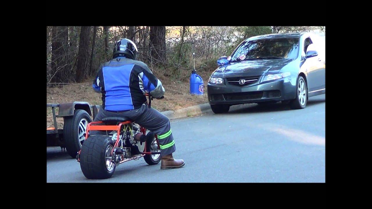 Action!!! gx390 vs Predator 420 mini bikes!!