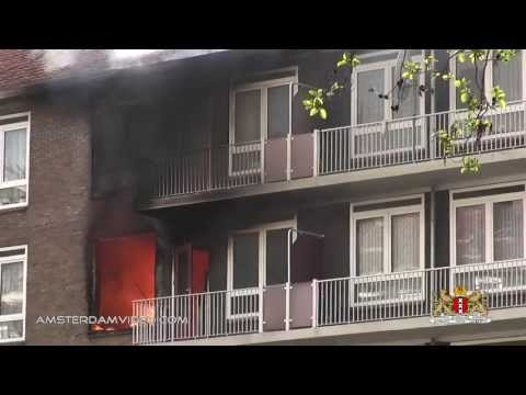Big Fire In Amsterdam Slotermeer Highrise (5.13.13 - Day 1047)