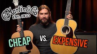 Expensive vs. Cheap Martin Acoustic Guitars | 000-X1 vs. 000-42