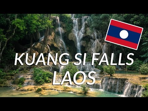 The MOST BEAUTIFUL WATERFALL in the WORLD (Kuang Si Falls) | Laos Travel Vlog