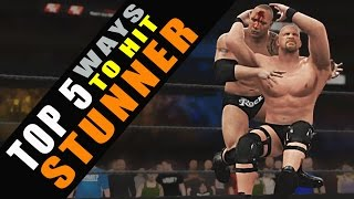 WWE 2K16 TOP 5 Ways to Hit Stunner!!