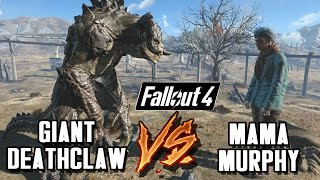 Giant Alpha Deathclaws VS Giant Mama Murphy | Fallout 4 Nuka World Battle Arena | Battle Request