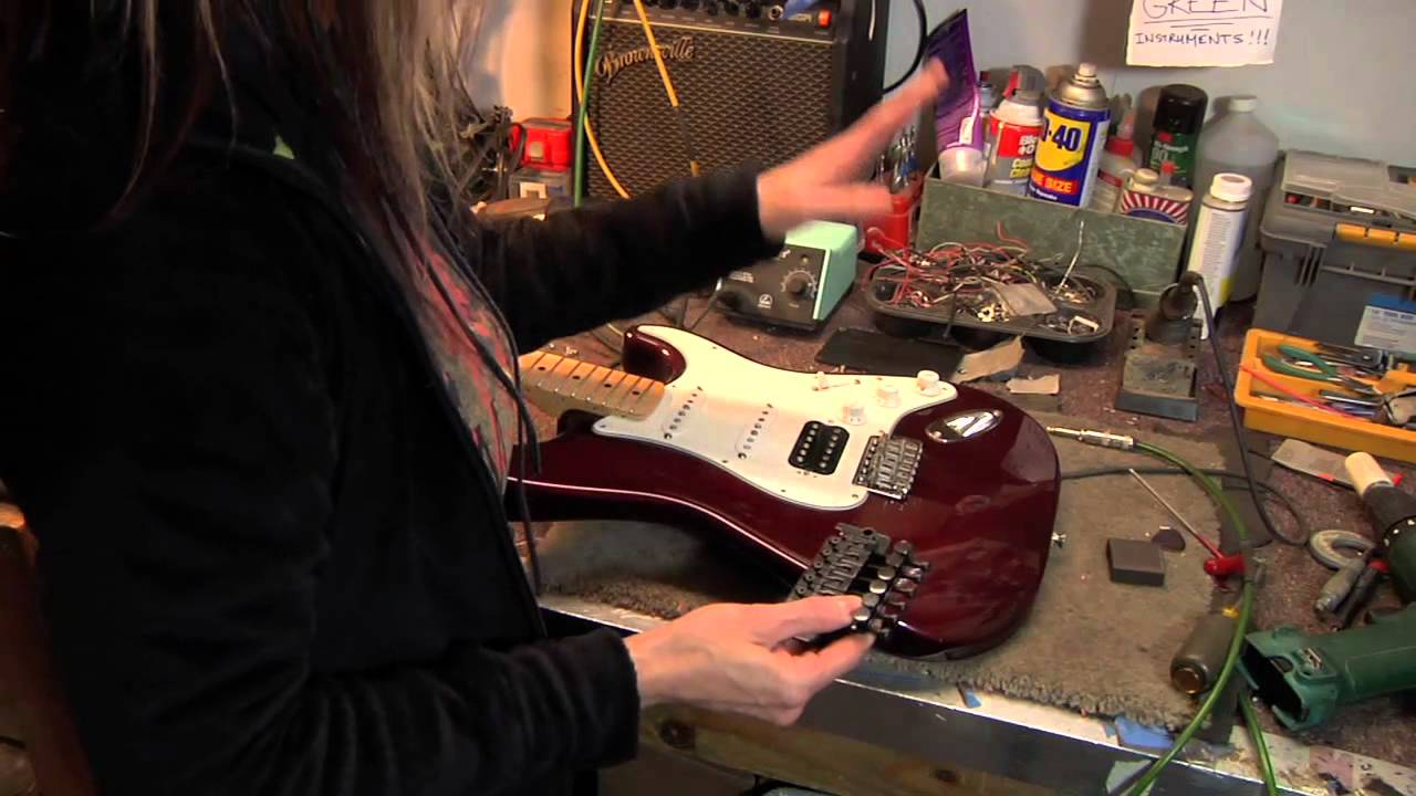 How to Install a Floyd Rose Fender Strat - YouTube