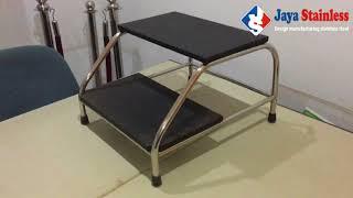 FootStep Stainless - tangga periksa pasien, tangga meja periksa pasien di rumah sakit dan klinik Mp3