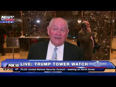 FULL CLIP: Former Georgia Governor Sonny Perdue at Trump Tower