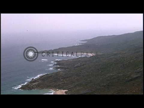 Aerial views of Cam Rahn Bay and vicinity during the Vietnam War HD Stock Footage