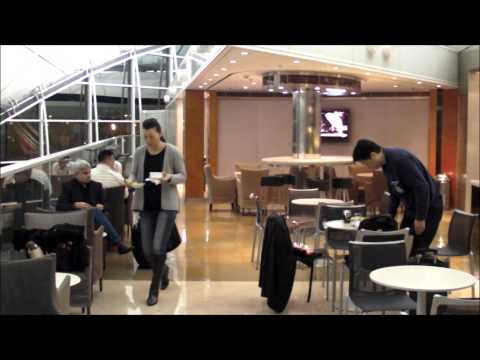 Hong Kong Chek Lap Kok Airport. The United Airlines - Lufthansa Business Class Lounge