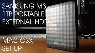 Samsung 1TB M3 External Hard Drive + Mac OS X SET UP