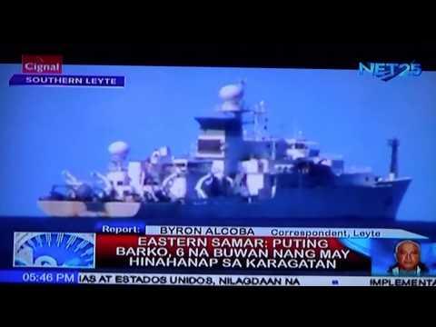 Misteryosong barko namataam sa Southern Leyte
