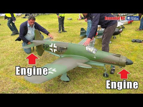 RARE LARGE SCALE RC Dornier Do 335 (Engine front and back) WWII FIGHTER FORMATION FLYING