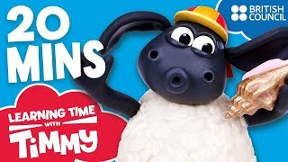 Full Episodes Compilation 5-8 | Learning Time with Timmy | Learn Words for Toddlers