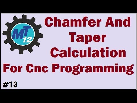 How To Calculate Chamfer And Taper Angle For Cnc Programming In Hindi by  MECH TECH12