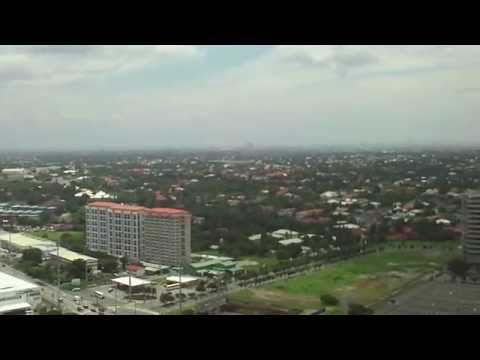 Manila Skyline and La Laguna used for fish farming