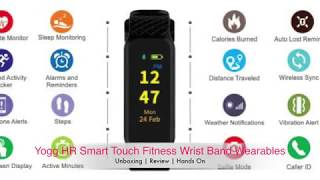 | Yogg HR Smart Touch Fitness Wrist Band | Unboxing | Review | Hands On