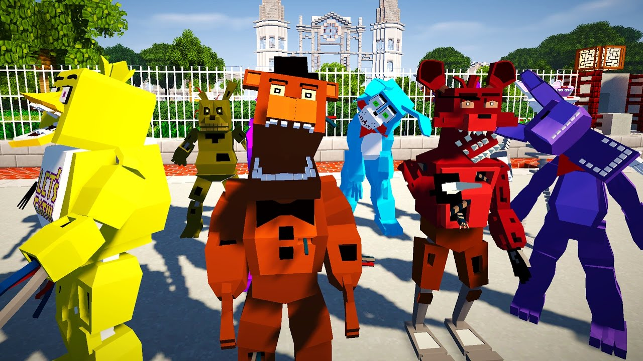 Minecraft FIVE NIGHTS AT FREDDYS MOD GOLDEN FREDDY CHICA BABY - Minecraft fnaf spielen