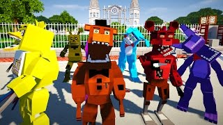 Minecraft FIVE NIGHTS AT FREDDY'S MOD! | GOLDEN FREDDY, CHICA, BABY, FOXY, & MORE | Modded Mini-Game