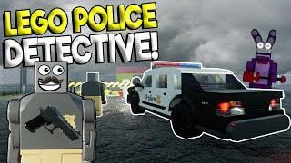 LEGO POLICE DETECTIVE & FNAF MYSTERY! - Brick Rigs Roleplay Gameplay - Lego Police Chase