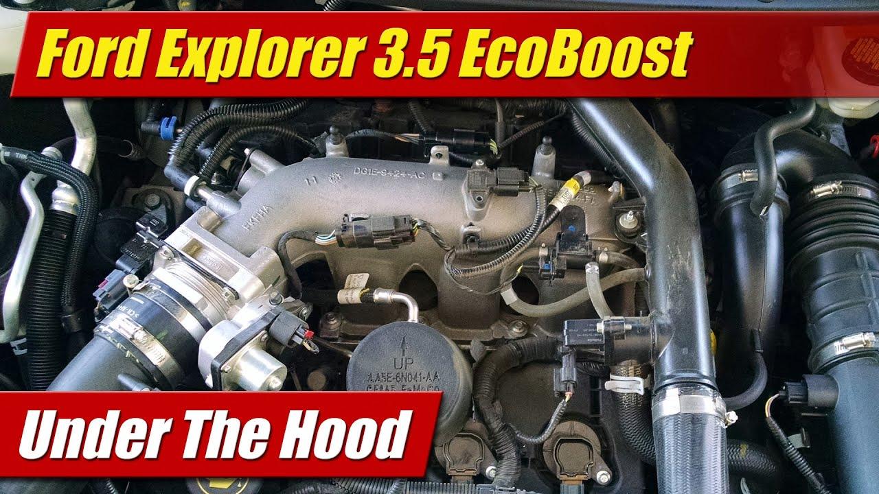 Ford 3 8 V6 Engine Diagram Lines Under The Hood Ford Explorer 3 5 Ecoboost Youtube