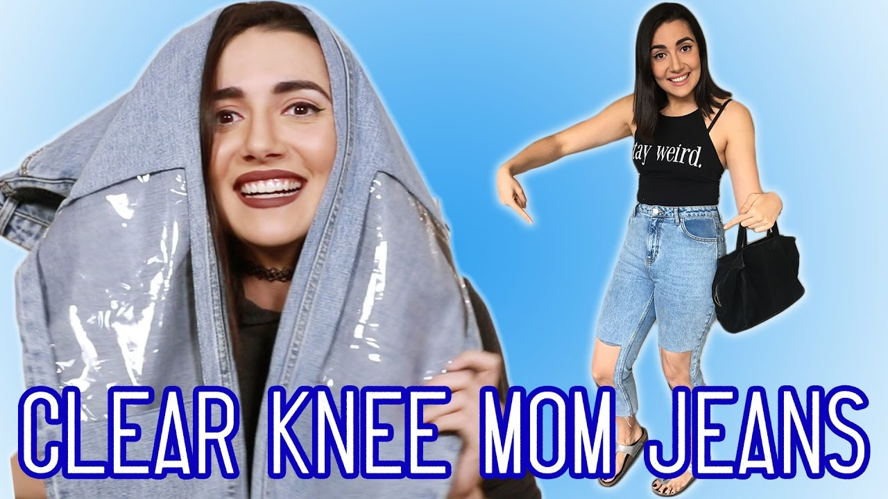 wearing the ugliest jeans in the world for a week youtube