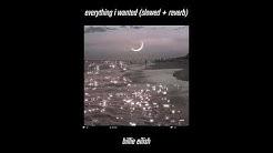 billie eilish - everything i wanted (slowed + reverb)