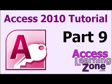 Microsoft Access 2010 Tutorial Part 09 Of 12 - Customer Queries