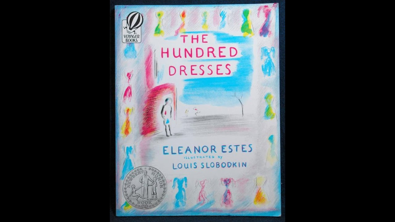 Book Cover Watercolor Dress : The hundred dresses by eleanor estes mpl book trailer