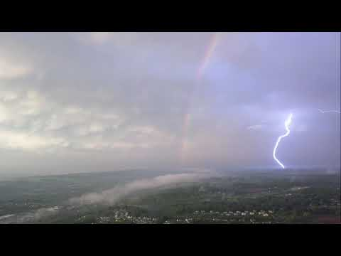 Rainbow Appears During a Lighting Storm in Chester County, Pennsylvania