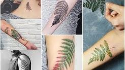 Top-30 Most Beautiful Fern Leaf Tattoo Design Ideas