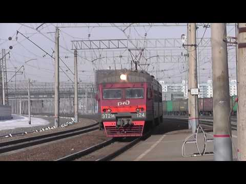 Электропоезд ЭТ2М-124 сообщением Барабинск - Чулымская - Новосибирск-Главный